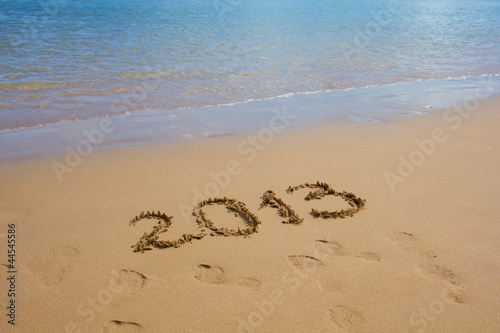 meeting  2013 new year on the beach  concept