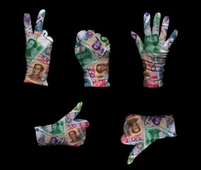 Money gloves