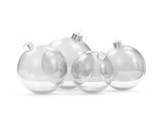 Group of Empty Glass Christmas Balls isolated on white