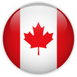 Canada Flag Glossy Button