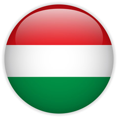 Hungary Flag Glossy Button