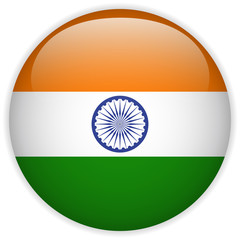 India Flag Glossy Button
