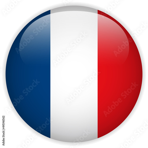 France Flag Glossy Button