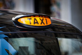 Fototapety Taxi sign in UK