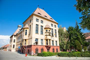 Old architecture in Medias, Transylvania, Romania