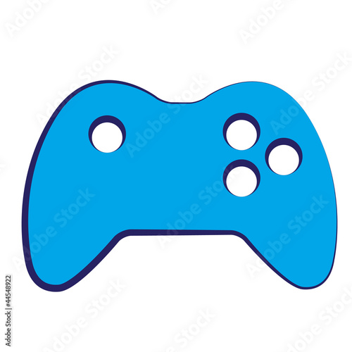 Blue Video game icon on white background