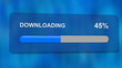 downloading progress bar with luma matte