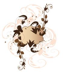 floral marron