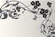 floral grise argent