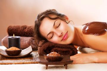 Spa Chocolate Mask. Luxury Spa Treatment