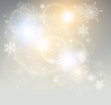 Fototapety Abstract Christmas background with white snowflakes