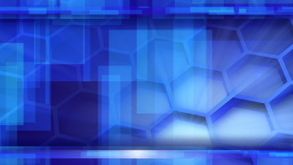 looping blue glossy high-tech background