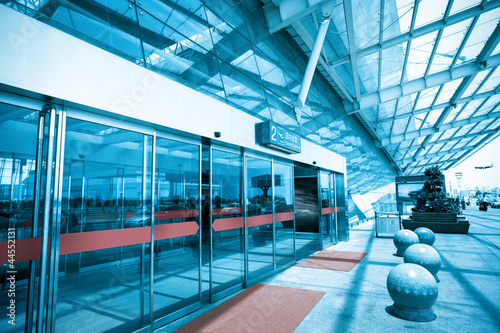 Aluminium Luchthaven terminal entrance