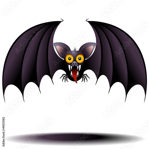 Bat Vampire Cartoon Pipistrello Vampiro-Vector