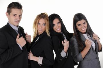 Jóvenes triunfadores en la oficina