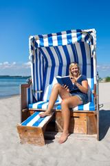 Sommertag im Strandkorb