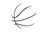 Fototapety A silhouette of a basketball