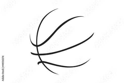 A silhouette of a basketball - 44556376