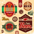 Beer labels, badges and icons set.