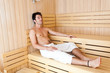 Man in a sauna