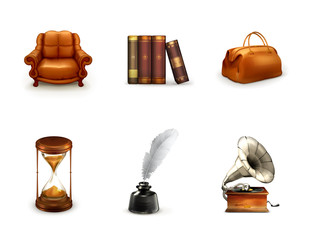 Retro, icon set