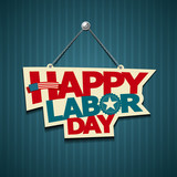 Happy Labor day american. text signs. vector