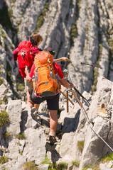 Wanderer in den Alpen