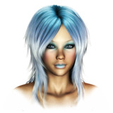 Fantasy Face blue Fae poster