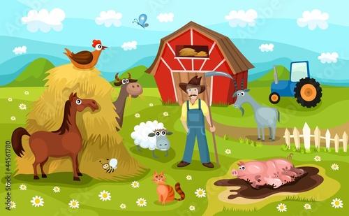 Foto op Canvas Boerderij farm