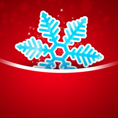 Christmas snowflake applique on bright background