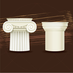 Ionic and Doric