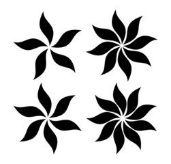 floral leaves illustration