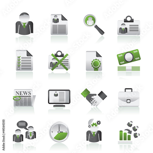 Employment and jobs icons - vector icon set