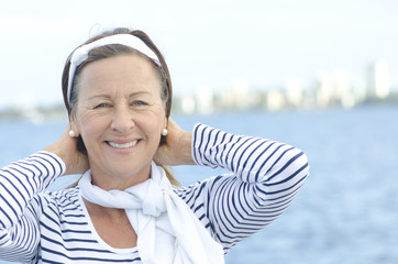 Active woman enjoying retirement