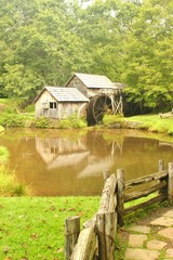 Mabry Mill a restored gristmill on the Blue Ridge Parkway in Vir