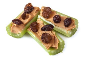 Celery Peanut Butter and Raisins