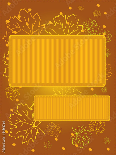 Vector autumn background with maple leaves, eps8
