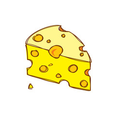 cheese in doodle style