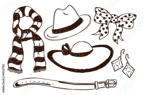 accesories in doodle style © mhatzapa