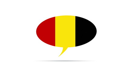 Belgium Flag Speech Bubble