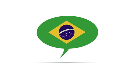Brazil Flag Speech Bubble