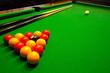 Постер, плакат: pool billiards table