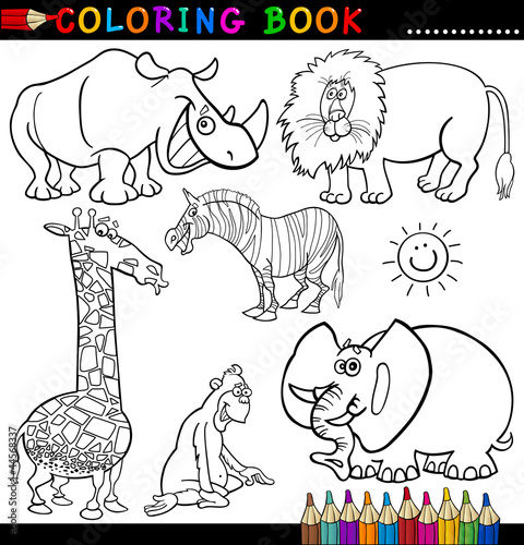 """""""u9ed1u8272""""]剪贴画动物动物园图像图形娱乐孩子快乐的性质插图"""