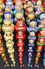 sets of traditional russian nesting painted doll matryoshka