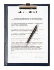 Agreement in a clipboard