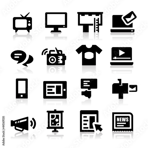 Advertisement icons
