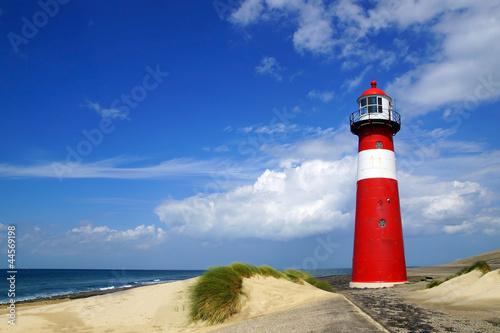 Leinwanddruck Bild Lighthouse. Westkapelle, Netherlands