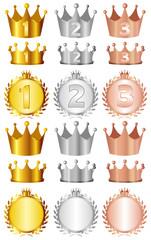 クラウン 王冠 ローレル 金