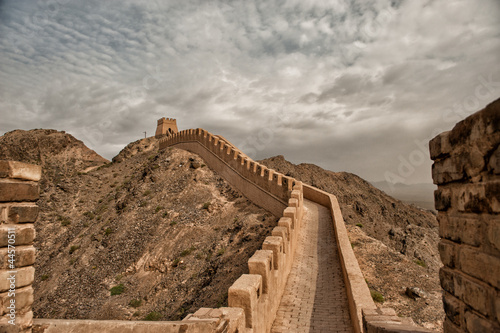 Staande foto Chinese Muur The Great Wall - the westernmost part located in Jiayuguan
