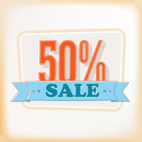 Discount labels 50%. Vector